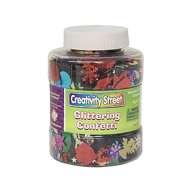 Chenille Kraft® Creativity Street® Glittering Confetti Shaker Jar, 8.8 oz., Assorted