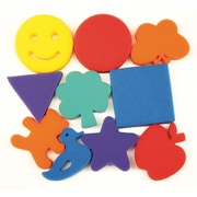 Chenille Kraft Familiar Shapes Paint Sponge Set, 10/Pack (CK-9075)