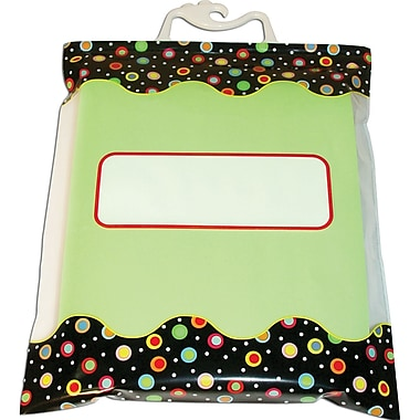 Creative Teaching Press® Dots on Black Storage Bags, 6/Pack