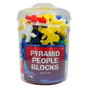 Learning Advantage™ 120 Piece Pyramid People Blocks Set