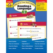 "Evan-Moor® ""Take It To Your Seat Centers: Reading..."" Grade 5 Resource Book, Language Arts/Reading"