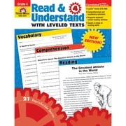 "Evan-Moor® ""Read and Understand With Levelled Texts"" Grade 4 Resource Book, Language Arts/Reading"