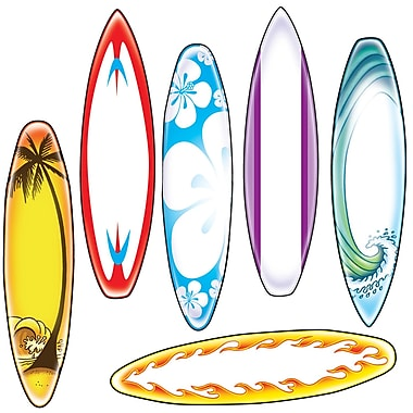 Edupress® Toddler - 12th Grade Bulletin Board Accent, Surfboard