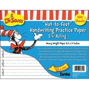 "Eureka® Dr. Seuss™ ""Hat-to-Feet"" Handwriting Practice Paper, Handwriting Skills"