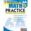 Carson Dellosa® Frank Schaffer Singapore Math Practice Level 6A Workbook, Grades 7