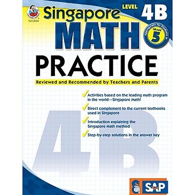 Carson Dellosa® Frank Schaffer Singapore Math Practice Level 4B Workbook, Grades 5
