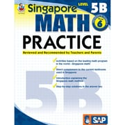 Carson Dellosa® Frank Schaffer Singapore Math Practice Level 5B Workbook, Grades 6
