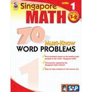 Carson Dellosa® Frank Schaffer Singapore Math 70 Must-Know Word Problems Level 1 Workbook, Grades 2