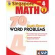 Carson Dellosa® Frank Schaffer Singapore Math 70 Must-Know Word Problems Level 4 Workbook, Grades 5
