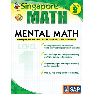 Carson Dellosa® Frank Schaffer Singapore Math Mental Math Level 1 Workbook, Grades 2