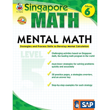 Carson Dellosa® Frank Schaffer Singapore Math Mental Math Level 5 Workbook, Grades 6