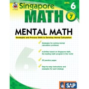 Carson Dellosa® Frank Schaffer Singapore Math Mental Math Level 6 Workbook, Grades 7
