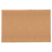 "Ghent® Wood Frame Cork Bulletin Board, 24"" x 36"", Natural Tan"