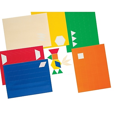 Ideal® Pattern Blocks Stickers, Grades P - 6th