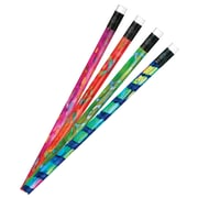J.R. Moon Pencil Co. Batik Tie Dye Pencil, Assorted, 12/Pack