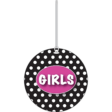 Ashley White Dots on Black Girls Hall Pass, 3 3/4