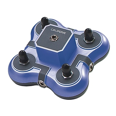 Califone® 4 Position Mini Stereo Jackbox, Blue