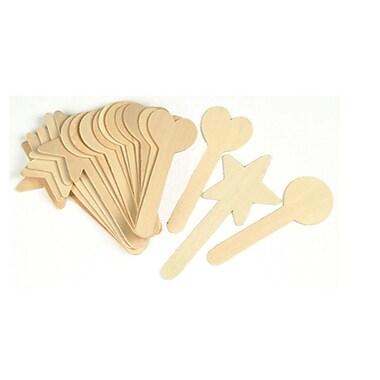 Chenille Kraft® Large Geometric Shapes Craft Sticks, Natural