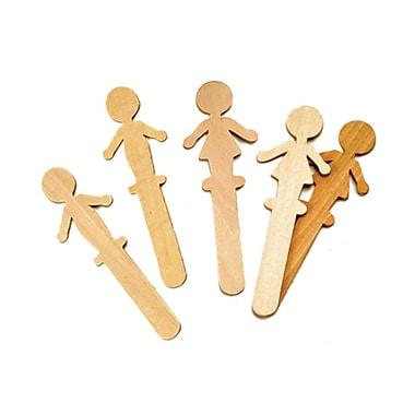 Chenille Kraft® People Shaped Craft Sticks, Natural