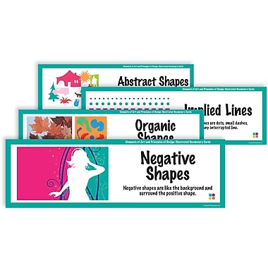 Crystal Productions E & P Illustrated Vocabulary Art Display Cards, Grades Preschool - 9