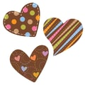 Creative Teaching Press® Toddler - 12th Grade Jumbo Designer Cutout, Dots on Chocolate Hearts