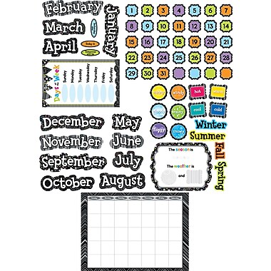 Creative Teaching Press® Calendar Set, Black and White