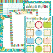 Creative Teaching Press® Dots On Turquoise Classroom Essentials Chart Set, Classroom Management