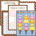Creative Teaching Press® Dots On Chocolate Classroom Essentials Chart Set, Classroom Management