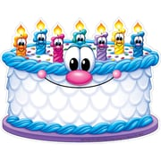 Eureka® Toddler - 6th Grade Paper Cut Out, Birthday Friends Cake