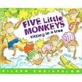 Houghton Mifflin in.Five Little Monkeys Sitting in a Treein. Book