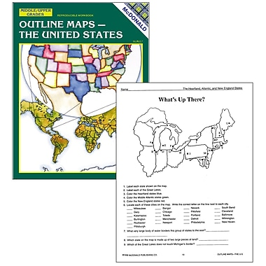 McDonald Publishing The U.S Outline Map