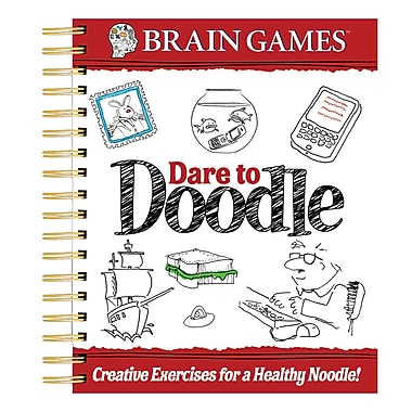 Publications International Brain Games Dare To Doodle Adult Activity Book, Grades 1 - 12