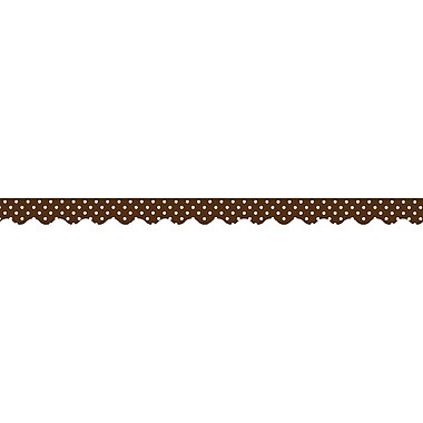 Teacher Created Resources Infant - 12th Grade Chocolate Scalloped Border Trim, Polka Dots