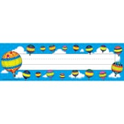 "Teacher Created Resources Name Plates, 3 1/2"" x 11 1/2"", Hot Air Balloons"