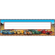 Teacher Created Resources Name Plates, 3 1/2 x 11 1/2, Race Cars