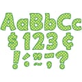 Teacher Created Resources Letters Combo Pack, Lime Polka Dots Funtastic