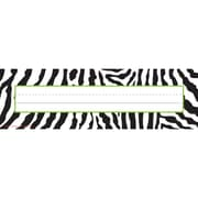 "Teacher Created Resources Name Plates, 3 1/2"" x 11 1/2"", Zebra"