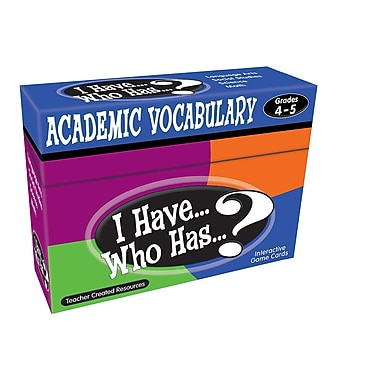 Teacher Created Resources I Have Who Has Academic Vocabulary Game, Grades 3-4