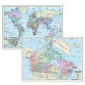 Kappa Map Group Universal Maps Canada/World Primary Deskpad Map, 5/Pack