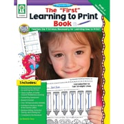 """Carson Dellosa® """"The First Learning to Print"""" Grade P-K Resource Book, Early Learning/Language Arts"""