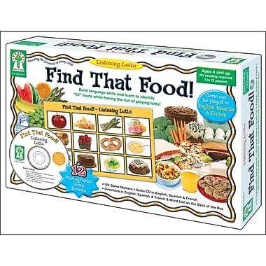 Key Education Publishing Listening Lotto: Find That Food! Board Game, Grades Preschool -1