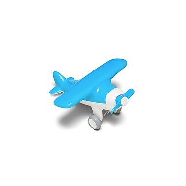Kid O Products Air Plane Toy Vehicle, Aqua Blue