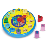 Melissa & Doug® Wooden Shape Sorting Clock Puzzle
