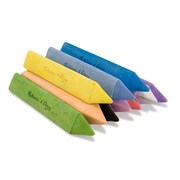 Melissa & Doug LCI4100 Assorted 10 Piece Jumbo Triangular Chalk Stick, 10/Pack