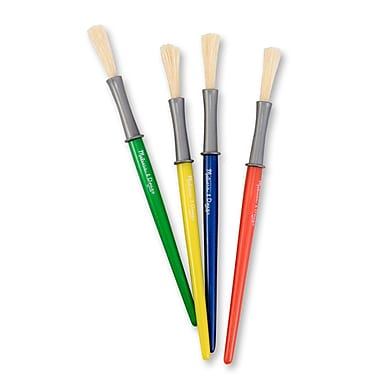 Melissa & Doug Medium Paint Brush Set, 4/Pack (4116)