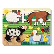Melissa & Doug® 4 Piece Farm Touch and Feel Puzzle, Grades Toddler - 1
