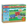 Melissa & Doug® 8 Piece Zoo Animal Wooden Train Set