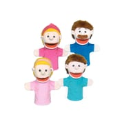 Get Ready Kids® Caucasian Family Bigmouth Puppet, 4/Set