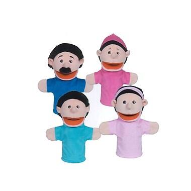 Get Ready Kids® Hispanic Family Bigmouth Puppet, 4/Set