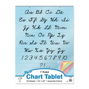 """Pacon® 24"""" x 32"""" 1"""" Ruled Colored Paper Chart Tablet, Assorted"""